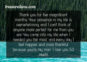 Happy 5 Months Anniversary Paragraph for Him