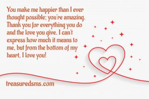 Thank You My Love Messages for Her